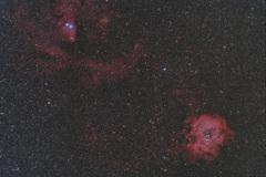 バラ星雲~クリスマスツリー星団(再処理)