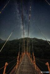 吊橋と天の川