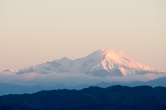 朝焼けの恵那山1