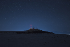 雪原基地の星空
