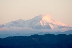 朝焼けの恵那山2