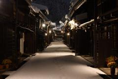 雪夜の散歩