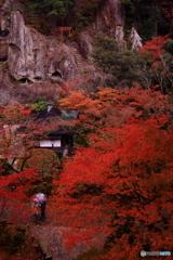 雨の那谷寺