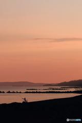 波松海岸の朝