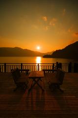 湖畔の時間