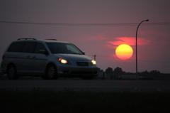 カナダの夕日