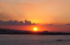 淡水的夕陽