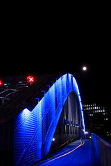 The Moon On Blue Bridge