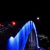 The Moon On Blue Bridge