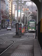 朝の札幌市電