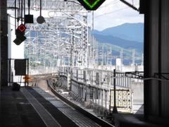 新幹線ホームから
