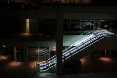 Blue in Escalator