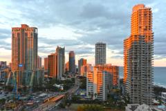 Sunset glow on the Gold Coast