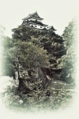 和歌山城イラスト風/HDR