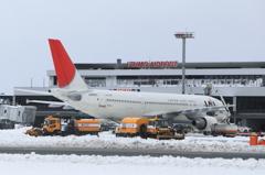 出雲縁結び空港 除雪作業