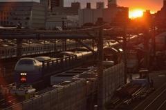 三鷹電車庫跨線橋からの景色。その3