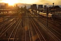 三鷹電車庫跨線橋からの景色。その2