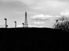 鉄塔のある風景。
