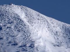 雪崩の滑走区