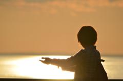 オホーツクの夕日リュックサック