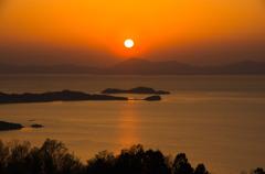 瀬戸の夕陽-2