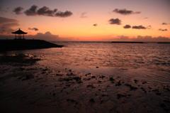 Dawn of bali island