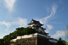 秋の空に岸和田城