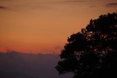 7月26日琵琶湖の夕日2