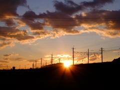 夕陽の中2