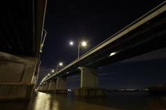 琵琶湖大橋2 中秋の名月