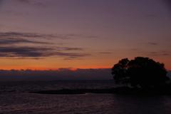 7月26日琵琶湖の夕日3