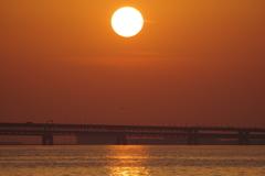 関空に沈む太陽1