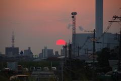 摂津の夕日1