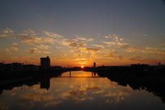 秋の空 夕焼け2