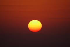 日の出 五月山から3