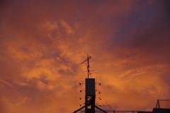 街中の夕日3