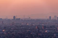 大阪湾に日が沈む 2