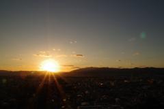 京都の夕日1