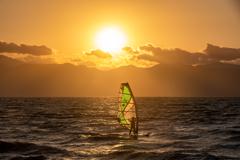 琵琶湖の夕陽 1