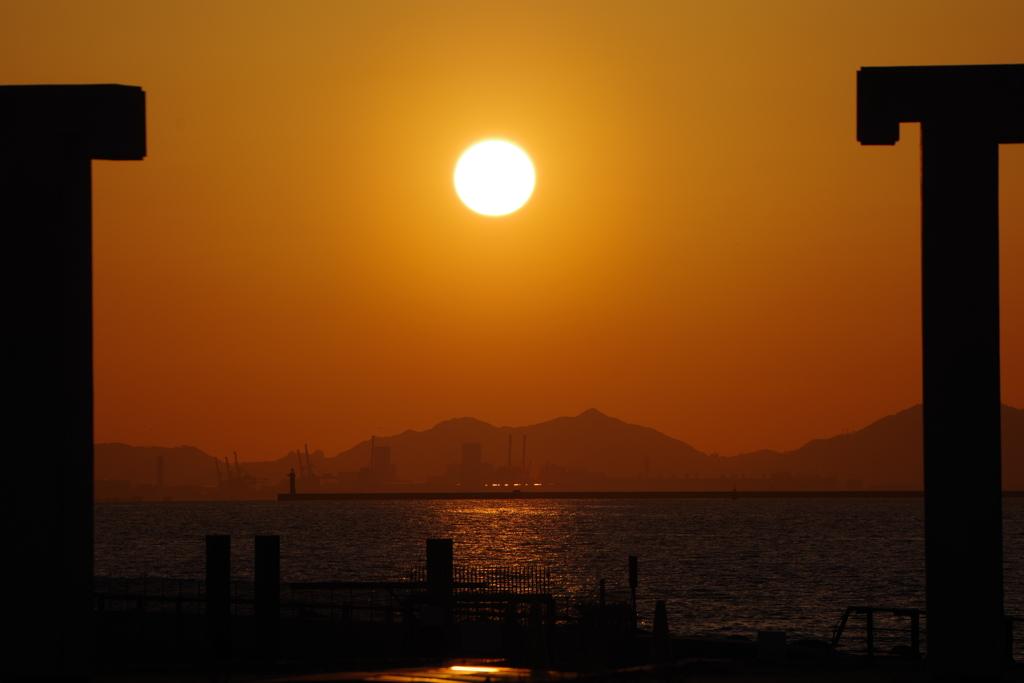 大阪北港夕焼け2