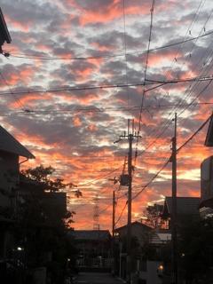 昨日の夕焼け2