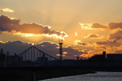 きれいな夕焼け雲1