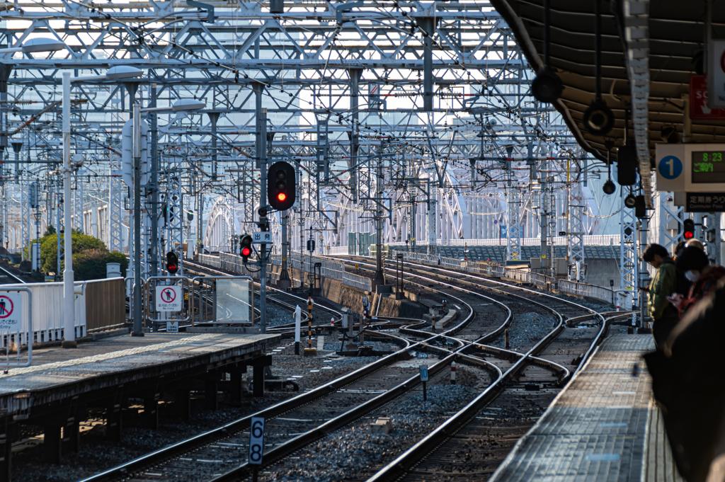 阪急十三駅の朝