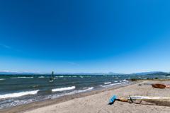 晴天琵琶湖