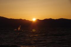 6月4日琵琶湖の夕日2