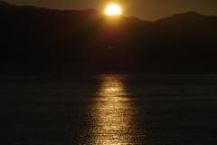 7月14日琵琶湖夕日2