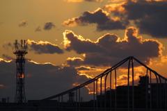 きれいな夕焼け雲2