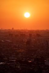 大阪湾に日が沈む 1