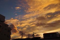 街中の夕日1