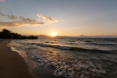 琵琶湖の夕陽 2